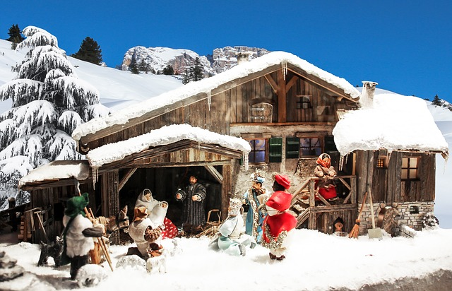 Belenes en navideños en invierno y originales